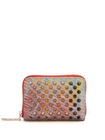 Christian Louboutin Panettone Suede Coin Purse