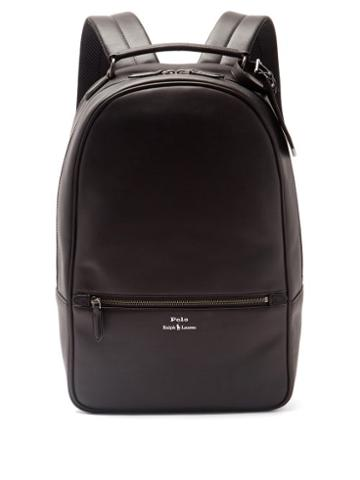 Matchesfashion.com Polo Ralph Lauren - Logo-embossed Leather Backpack - Mens - Black