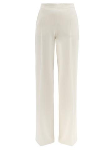 Matchesfashion.com Max Mara - Vicario Trousers - Womens - Ivory