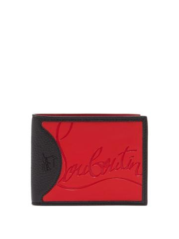 Matchesfashion.com Christian Louboutin - Coolcard Rubber Inlay Bi Fold Leather Wallet - Mens - Red