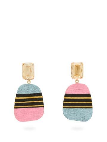 Matchesfashion.com Maryjane Claverol - Carmela Stripe Clip Earrings - Womens - Multi