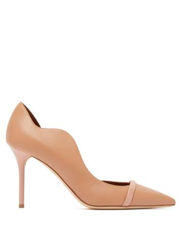 Matchesfashion.com Malone Souliers - Morrisey Waved Edge Leather Pumps - Womens - Nude