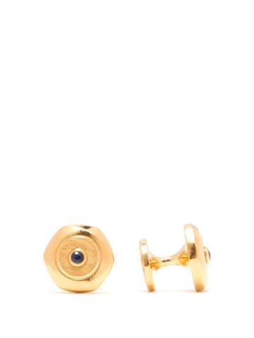 Matchesfashion.com Dunhill - Hex Gold Plated Sterling Silver Cufflinks - Mens - Silver Gold