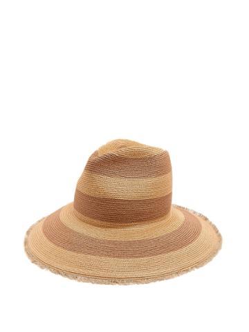 Filù Hats Riga Striped Hemp-straw Hat