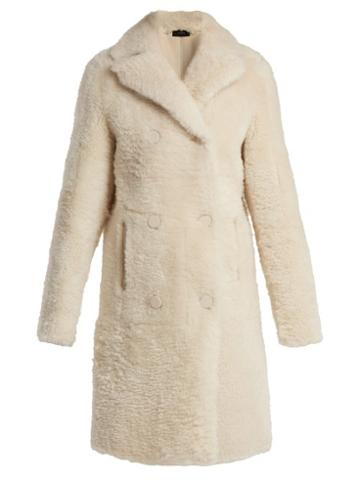 Matchesfashion.com Joseph - Hector Shearling Coat - Womens - Cream