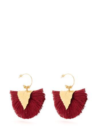 Elise Tsikis Agia Tassel-drop Gold-plated Earrings