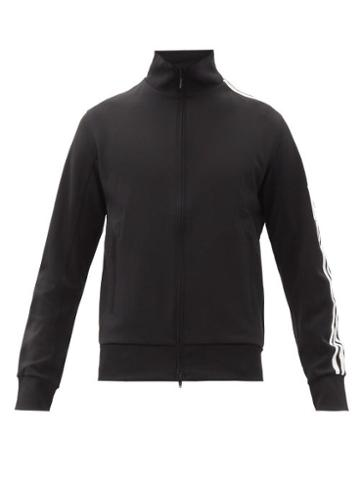 Matchesfashion.com Y-3 - Striped Zip-through Cotton-jersey Track Jacket - Mens - Black