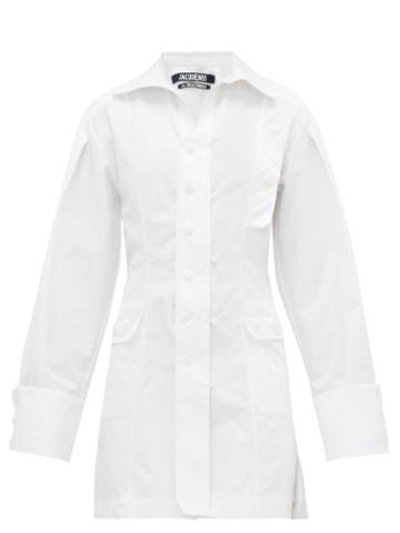 Matchesfashion.com Jacquemus - Roman Cotton Shirtdress - Womens - White