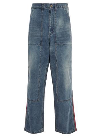 Needles Side Striped Wide-leg Workwear Jeans