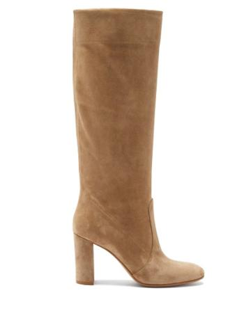 Matchesfashion.com Gianvito Rossi - Knee-high 85 Suede Boots - Womens - Beige