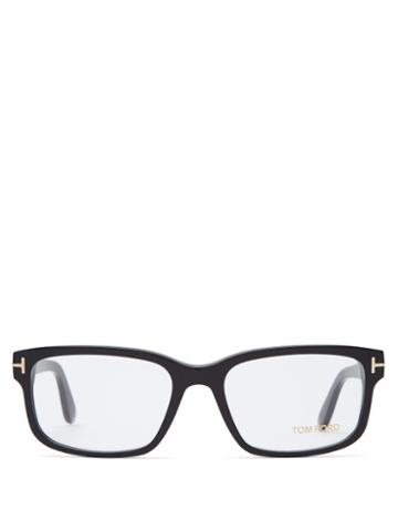 Matchesfashion.com Tom Ford Eyewear - Square Frame Acetate Glasses - Mens - Black
