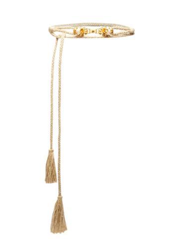 Matchesfashion.com Sonia Petroff - Moonflower Pearl-embellished Raffia Belt - Womens - Beige Multi