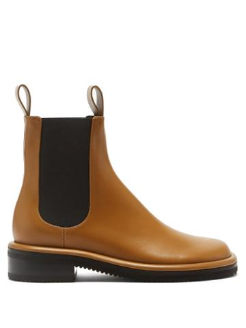 Proenza Schouler - Pipe Leather Chelsea Boots - Womens - Tan