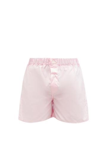 Matchesfashion.com Emma Willis - Superior Cotton-poplin Boxer Shorts - Mens - Pink