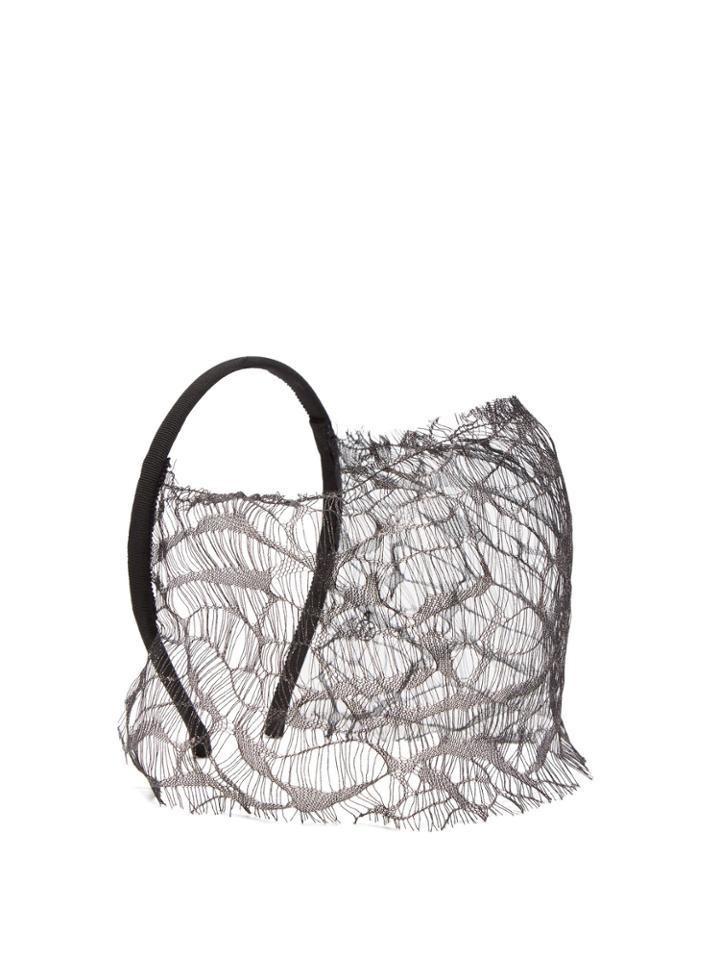 Maison Michel Anastasia Lace Headband