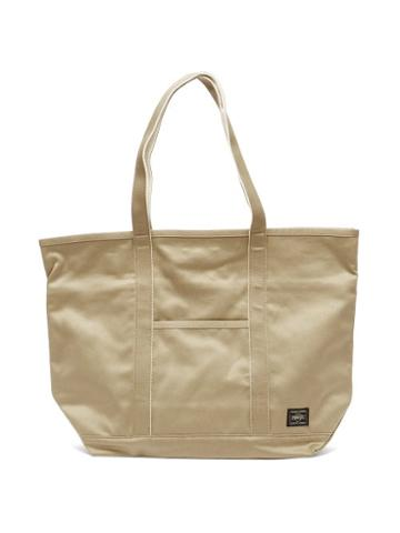 Matchesfashion.com Porter-yoshida & Co. - Weapon Medium Cotton-canvas Tote Bag - Womens - Beige