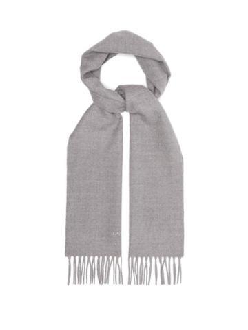 Matchesfashion.com Lanvin - Wool Scarf - Mens - Grey