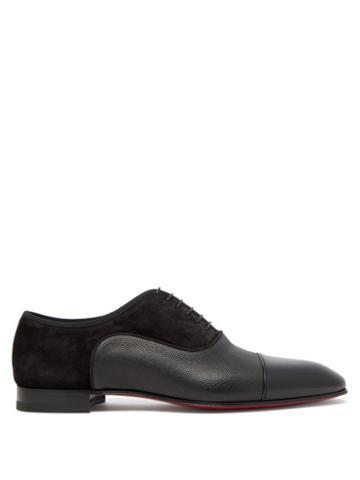 Matchesfashion.com Christian Louboutin - Greggo Panelled Leather Oxford Shoes - Mens - Black