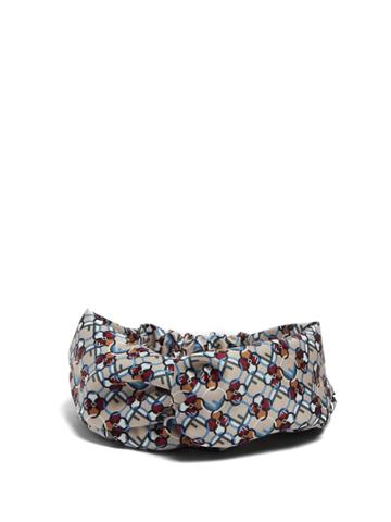 Fendi Multicoloured Turban Headband