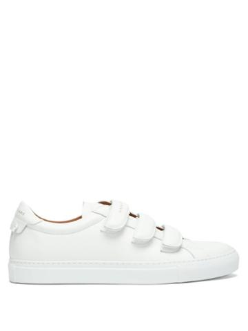 Matchesfashion.com Givenchy - Leather Velcro Trainers - Mens - White