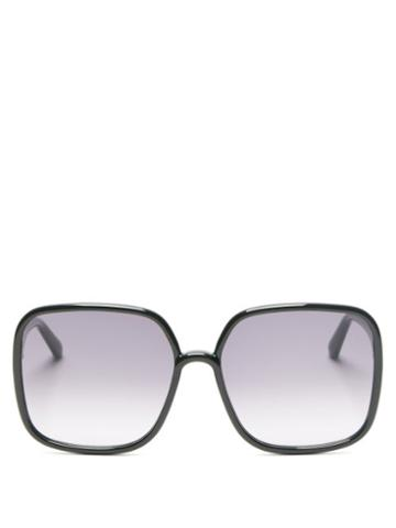 Matchesfashion.com Dior - Diorsostellaire Square Acetate Sunglasses - Womens - Black