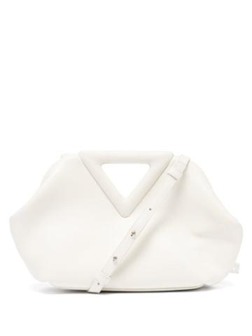 Matchesfashion.com Bottega Veneta - The Triangle Leather Clutch Bag - Womens - Ivory