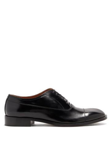 Matchesfashion.com Maison Margiela - Cordovan-leather Oxford Shoes - Mens - Black