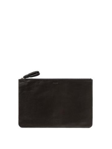 Lemaire - Logo-print Leather Pouch - Mens - Black