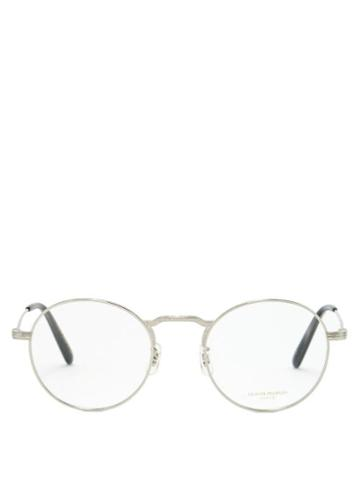 Oliver Peoples - Round Metal Glasses - Mens - Silver