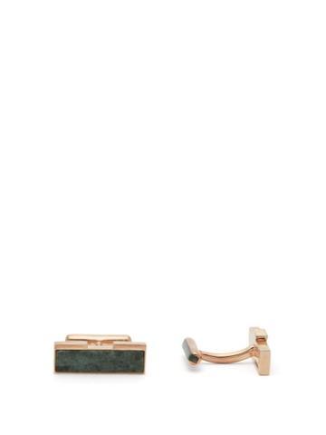 Matchesfashion.com Ioanna Souflia X Ysa - X Ysa Tinos Marble Gold Plated Cufflinks - Mens - Gold Multi