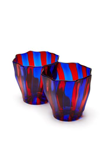 Campbell Rey Rosanna Murano Striped Glasses