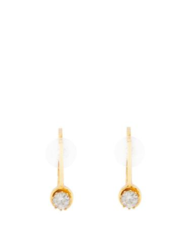 Colville Small Hoop And Stone Earrings