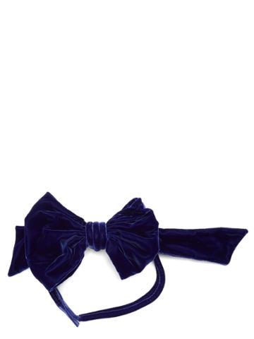 Maison Margiela Bow-embellished Velvet Belt