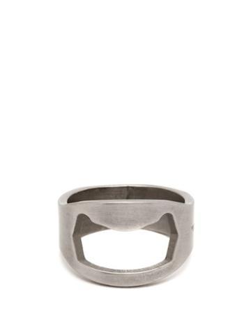 Matchesfashion.com Off-white - Utility Silver Tone Ring - Mens - Silver