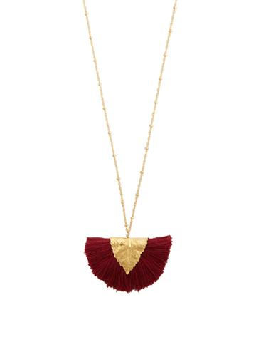 Elise Tsikis Los Craie Tassel-pendant Gold-plated Necklace