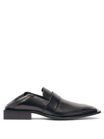 Matchesfashion.com Balenciaga - Collapsible-heel Leather Loafers - Mens - Black