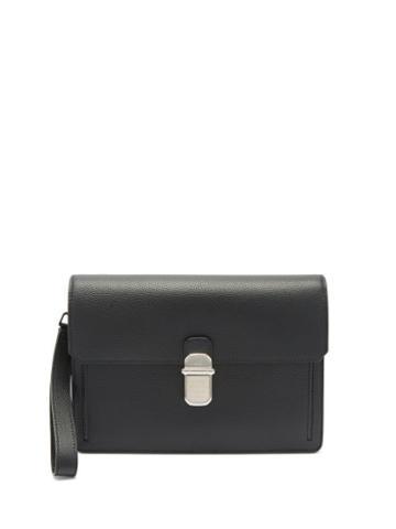Matchesfashion.com Dunhill - Belgrave Leather Pouch - Mens - Black