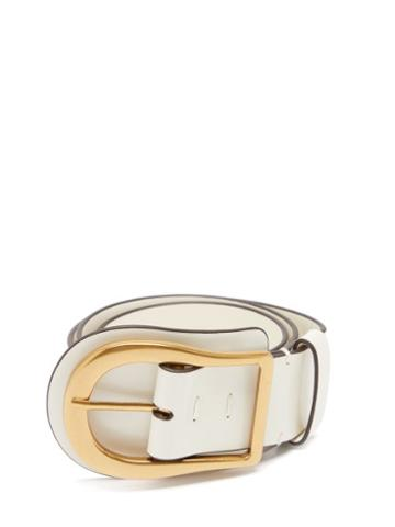 Matchesfashion.com Zimmermann - Horseshoe-buckle Leather Belt - Womens - Ivory