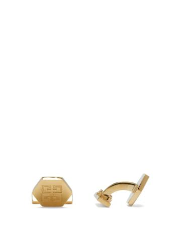 Matchesfashion.com Givenchy - 4g-engraved Metal Cufflinks - Mens - Gold