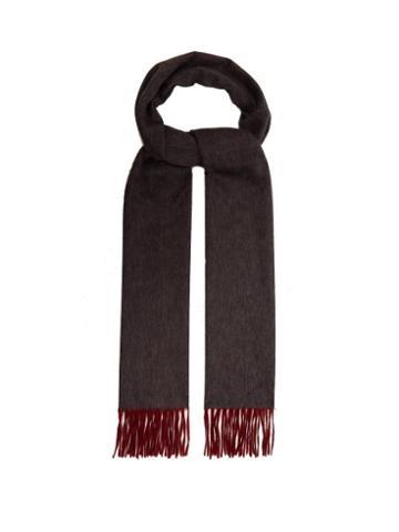Matchesfashion.com Begg & Co. - Arran Reversible Cashmere Scarf - Mens - Grey Multi