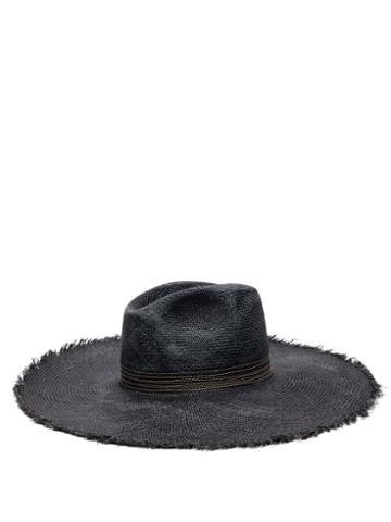 Matchesfashion.com Fil Hats - Koh Samui Toquilla Straw Panama Hat - Womens - Navy