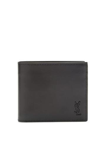 Matchesfashion.com Saint Laurent - Ysl-embossed Leather Bi-fold Wallet - Mens - Black