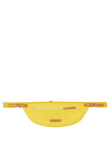 Jacquemus - Le Banane Leather-trimmed Canvas Cross-body Bag - Mens - Yellow