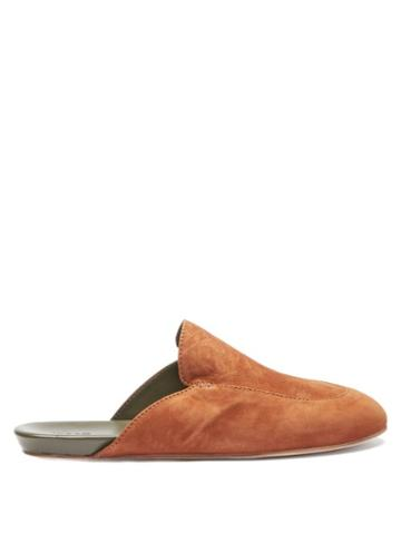 Matchesfashion.com Inabo - Slowfer Leather And Suede Slippers - Mens - Brown