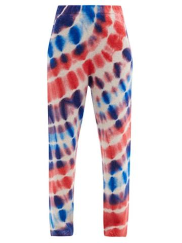 Matchesfashion.com The Elder Statesman - Radiate Surf Tie-dye Cashmere Track Pants - Womens - Blue Multi