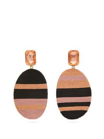 Matchesfashion.com Maryjane Claverol - Julieta Crystal And Disc Drop Earrings - Womens - Pink