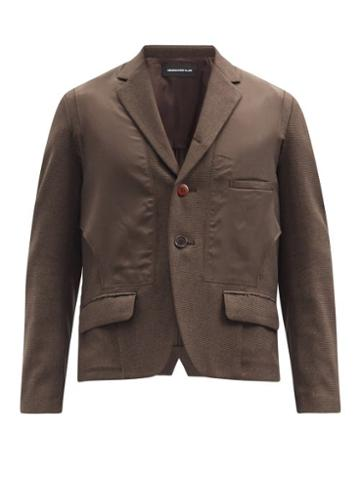Matchesfashion.com Undercover - Panelled Single-breasted Blazer - Mens - Brown