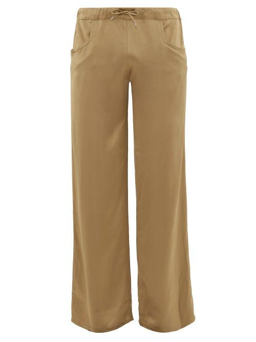 Matchesfashion.com Ludovic De Saint Sernin - Drawstring Waist Satin Trousers - Mens - Beige
