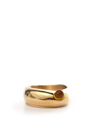Matchesfashion.com Anita Berisha - Formation 14kt Gold-plated Ring - Womens - Yellow Gold
