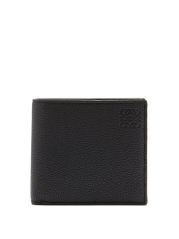 Matchesfashion.com Loewe - Bi-fold Grained-leather Wallet - Mens - Black